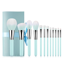12pcs Makeup Brushes Set Face Green Make Up Brush Cosmetic Tools Eye Brush Beauty Essential Set cosmetic makeup brush set