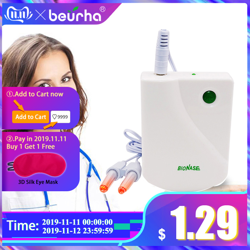 BioNase Nose Rhinitis Sinusitis Cure Therapy Nose Massage Hay fever Low Frequency Pulse Laser Runny sneeze treatment Machine-in Massage & Relaxation from Beauty & Health