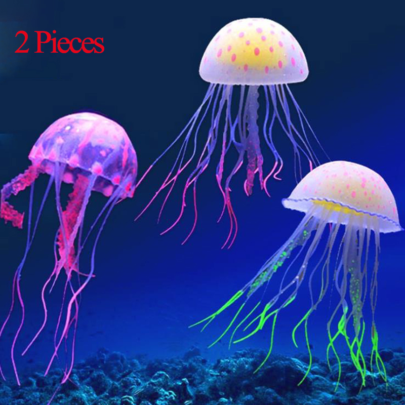 Fluorescent Jellyfish Lamp 6 Colors Silicone LED Light For Fish Tank Underwater Simulation Jellyfish For Decorative