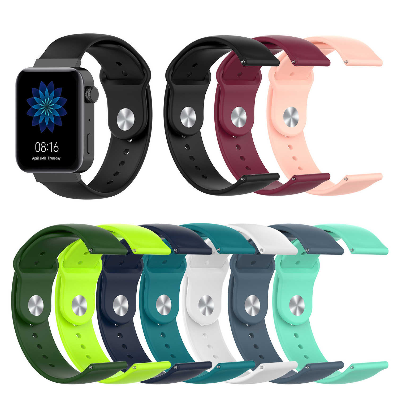 Correa de silicona para xiaomi huami, Correa deportiva de 18mm para relojes, pulsera de silicona, accesorios para relojes