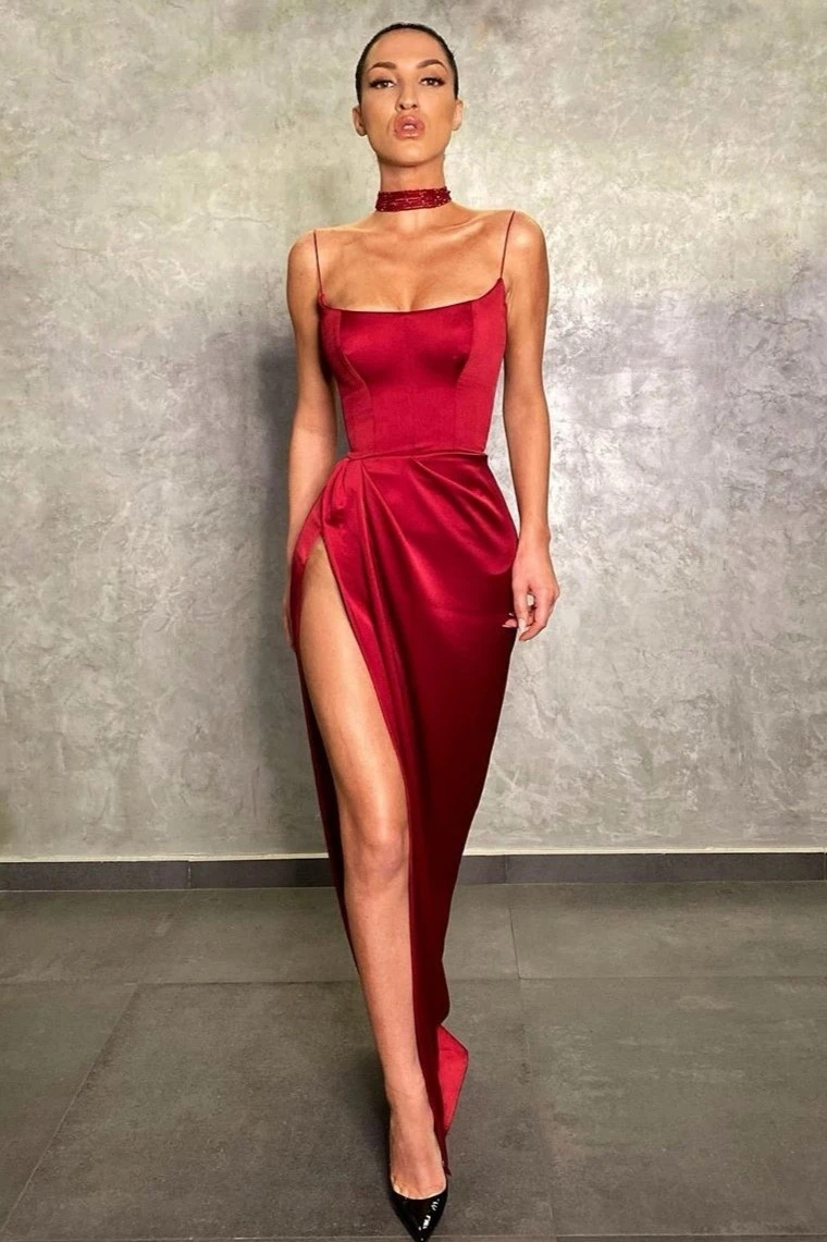2020 Backless Elegant Charming Slit Side Open Prom Formal Party Dress Vestido De Festa Elegant Vintage Robe Longue HB012