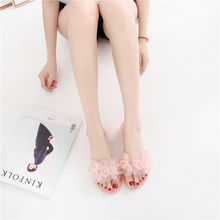 2020 summer ladies slippers transparent jelly shoes fashion flowers cute girls cool women