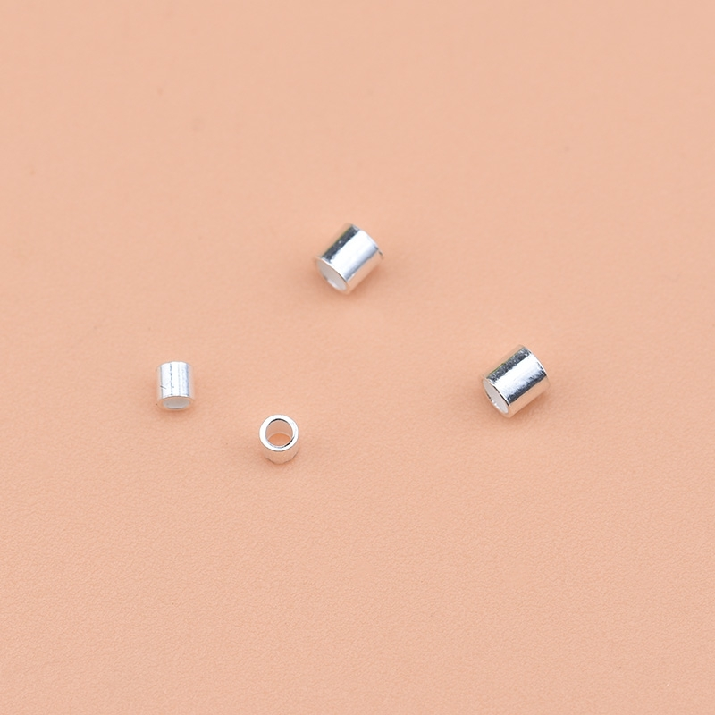 925 Sterling Silver Diy Jewelry Accessories, Locating Beads, Locating Tubes, Handmade Beading Material Bracelet Finishing Access