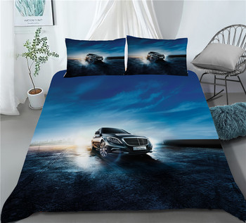 Racing Car Bed Linen Set Extreme Sports Boys Microfiber Soft Duvet Cover Set 2/3 Piece Custom Bedding Set Full Queen for Teens 2