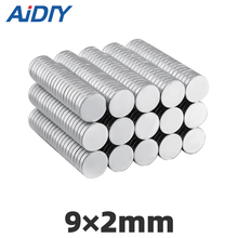 AI DIY 20/50/100 pcs powerful neodymium disc magnets 9 × 2 mm  permanent Rare Earth Magnetic magnet round strong 9*2mm