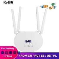 • Router Wireless 4G LTE CPE Router 3G/4G LTE Wifi Router con Slot per schede Sim e supporto Antenna esterna 4 pezzi 32 utenti