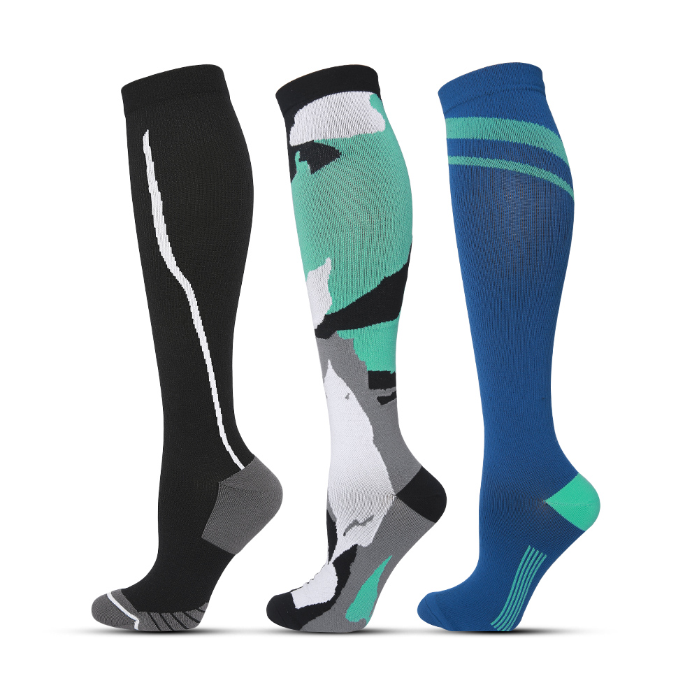 Compression Socks For Women Men 15-20 MmHg Sports Athletic Running Flight Travel Nurses Basketball Football Socks