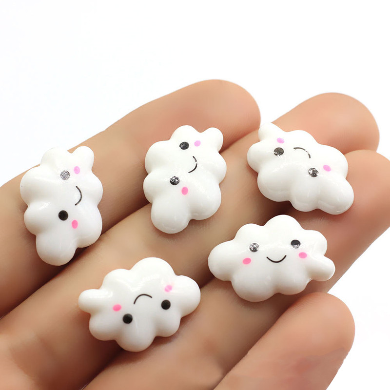 20pcs Addition Slimes Charms For Slimes Supplies Filler DIY Polymer Cute Smiley Cloud Accessories Toy Lizun Model Tools For Kids