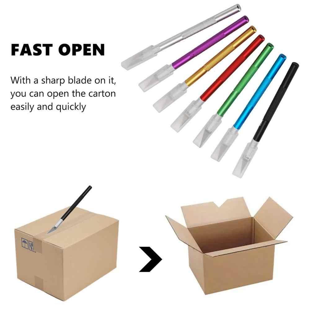 7 צבעים מתכת אזמל סכין 11 # להבי החלקה חותך חריטת קרפט סכיני עבור מחשב נייד DIY תיקון יד כלים knifee סכיני