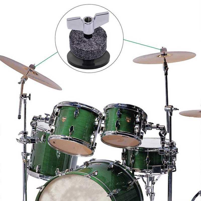 21 stuks Vervanging Accessoires Cimbaal Stand Mouwen Cimbaal Vilt Met Wasmachine & Base Vleugelmoeren Vervanging Voor Drum Set