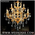 Moderne Luxuriöse Goldenen Kronleuchter Lichter 12 Arme Zink legierung Kristall Lustre Hängen Lampe Suspension Cristal Beleuchtung für Home|Kronleuchter|   -