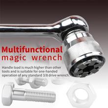 Universal Socket Magic Wrench Accessories Adjustable Hex Torque Ratchet Socket Adapter Wrench Repair Tool