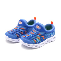 2019 New Bkg Children's Shoes Single Mesh Breathable Caterpillar Trend Fashion Casual with Flashing Lights Sports Shoes
