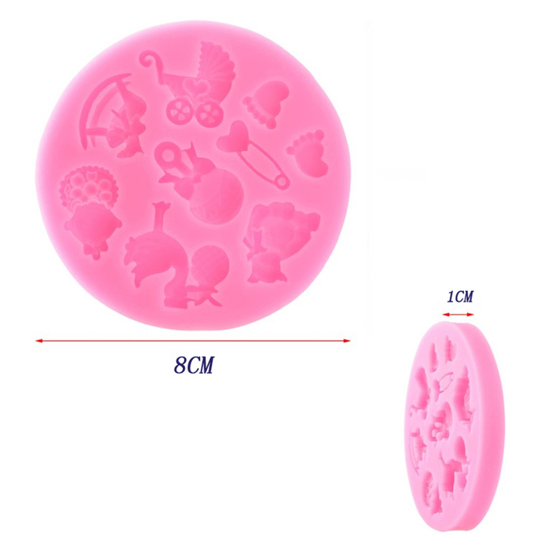 3D Silicone Fondant Mold For Baby Cake Decorating 3