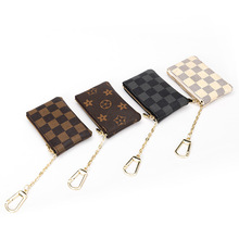 2020 New Arrival Oloey Pu Unisex Casual Plaid Zipper Square Coin Purses