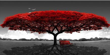 12 видов на выбор, абстрактное дерево, закат, волна, Художественная печать, Шелковый плакат для вашего дома, Настенный декор 24x36 дюймов