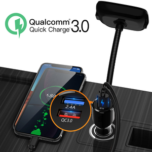 Image 2 - Deelife USB Car Fast Charger with Bluetooth FM Transmitter Handsfree kit For Mobile Phone Tablet Quick Charge QC3.0 Car Charger