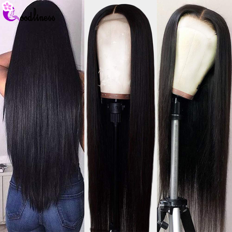 Transparent 13x6 Lace Frontal Wigs Glueless Brazilian Straight Black Lace Front Human Hair Wigs Bleached Knots Remy HD Lace Wig