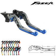 цена на For Yamaha FZS 600 FZS600 Fazer 1998-2003 1999 2000 2001 2002 Blue CNC Motorcycle Accessories Adjustable Brake Clutch Lever