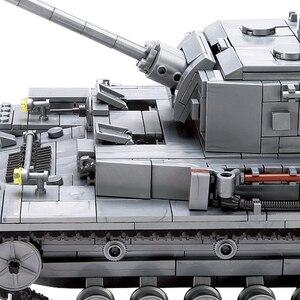 Image 4 - 1193 adet askeri serisi büyük Panzer tankı yapı taşları ordu şehir Enlighten tuğla oyuncaklar çocuklar için uyumlu Tank ile
