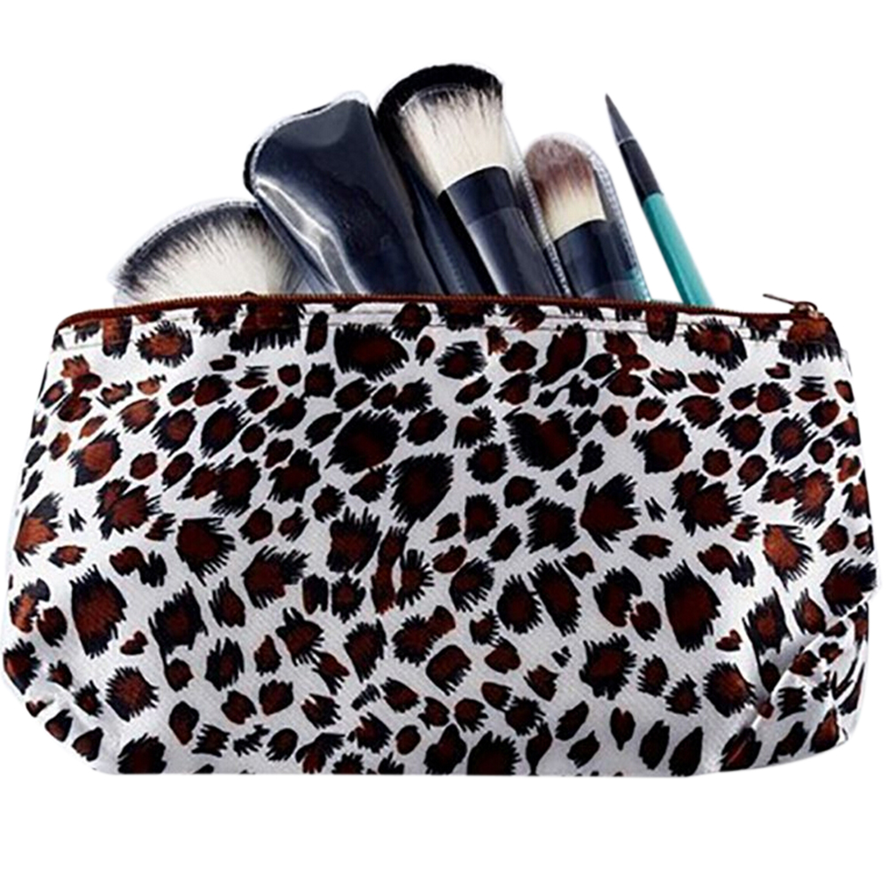 1PCS Woman Mini Cosmetic Make Up Bag Sexy Leopard Makeup Case Travel Toiletry Bag Wash Kits Multi-Function Storage Bags