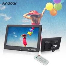 """Andoer 10,"""" lcd Цифровая фоторамка альбом будильник MP3 MP4 видеоплеер 1024*600 HD с пультом дистанционного управления"""