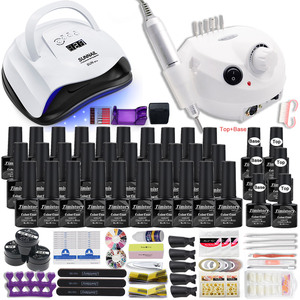 90W Nail Lamp Gift Set With 30 Colors Nail Gel Polish Set Manicure Set Acrylic Nail Kit With High Quality 20W Nail Drill Machine