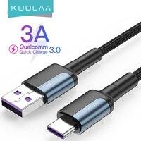 KUULAA USB Tipo di Cavo C Per Samsung S10 S9 3A Veloce Tipo Di Ricarica USB-C Cavo di Dati del Caricatore per xiaomi Mi 10t Pro USB-C Cabo Filo