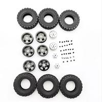 LeadingStar 4X4 Rear Double RC Car Wheel for 1/16 WPL B14 B24 JJRC Q61 Truck Vehicle Models Black