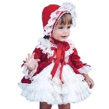 Новогодние платья для девочек; испанская детская одежда; дворцовые платья принцессы в готическом стиле; викторианское платье лолиты; красное кружевное платье