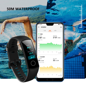 Image 5 - Huawei Honor Band 5 opaska globalna wersja tlen krwi inteligentny zegarek zespół AMOLED Fitness Tracker sen Data pulsometr