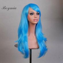 Boymia Long Curly Wigs Cosplay Costume Party Hair Anime Wigs Full Hair Wavy Wig 70cm