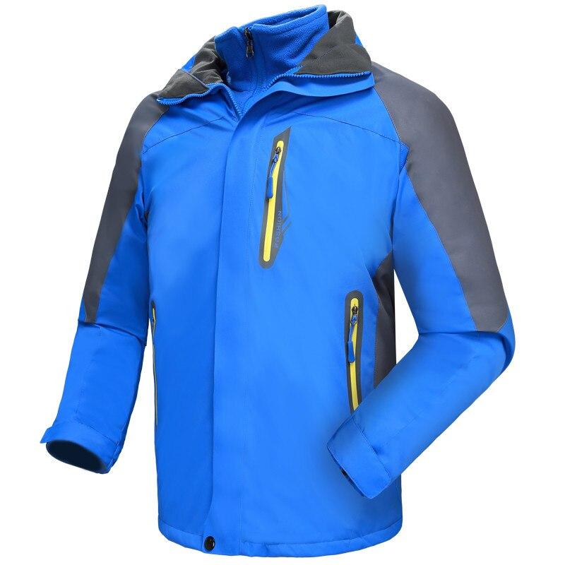 Inverno à Prova Jaquetas de Esqui dos Homens Jaqueta de Caça Cabolsa ao ar Montanha para 3 em 1 Dwaterproof Água Acampamento Inverno Quente Snowboard Livre Montanha para