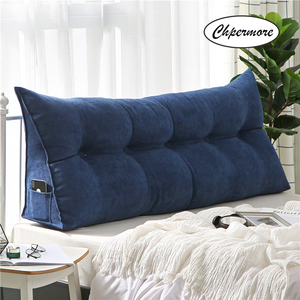 Image 5 - Chpermore High grade Luxury Simple bed cushion double sofa Tatami Bed soft bag Removable Bed pillow For Sleeping