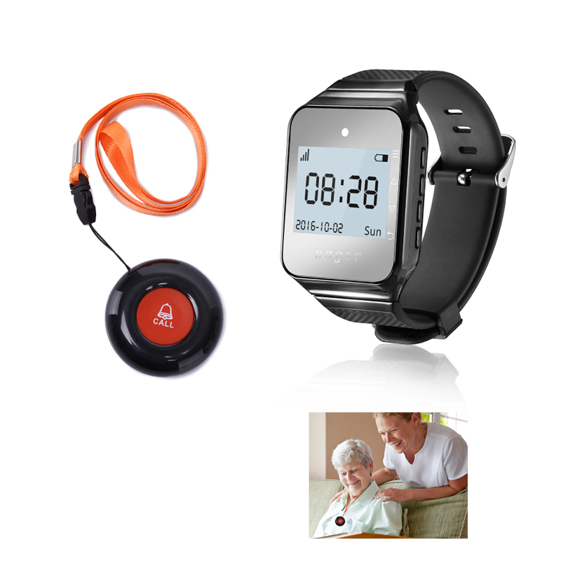 Daytech Pulse Wireless Pager Smart Call System Watch Pager Pager For Elder/patient/disable Home Wearable Receiver Alert