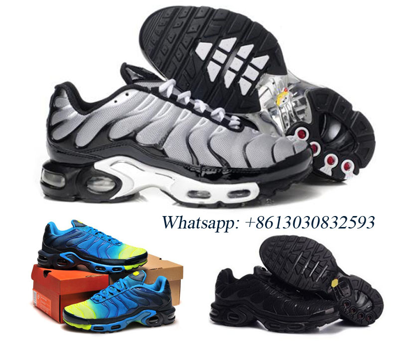 Man Running Shoes Tn Requin Homme Leather Tn Plus Sneakers Zapatos Homme Breathable Trainers 95 97 98 Chaussures Blue Black Red