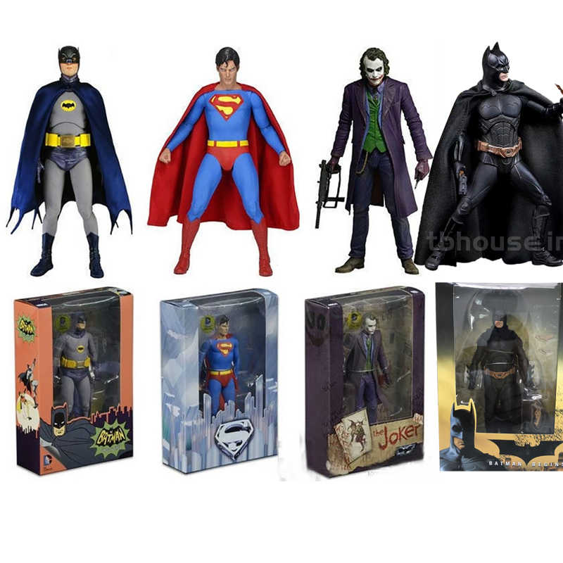 Neca De Joker Figuur Heath Ledger Dc Comics Superman Harley Joker Batman Action Figure Inbare Model Speelgoed Gift