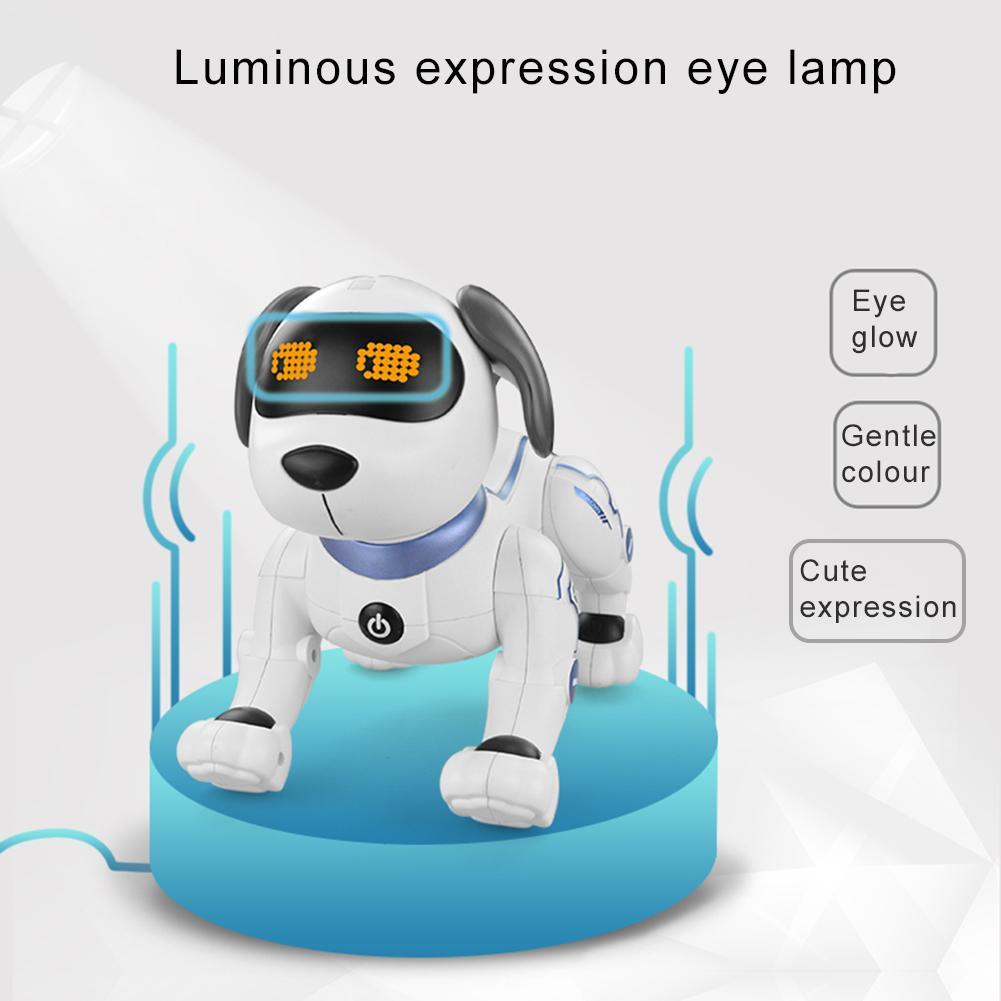 Eductional Intelligent RC Robot Dog Toy Electronic Pets Dog Children Toy Cute Animals RC Robot Smart Gift Jouet Chien BA60DZ