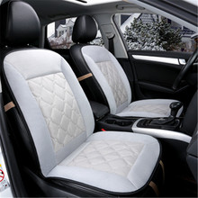 Plush Car Seat Covers Cushion 4 Season General Front Mat Cover Car Anti Slip Breathable for Car Automobiles Interior Accessories