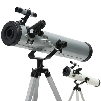 hd large aperture 76mm newtonian reflector astronomical telescope 350 times zooming reflective for space observation f76700 Refraction Astronomical Telescope Stargazing Sky Monocular Telescope Space Observation 525x Scope Outdoor with Portable Tripod