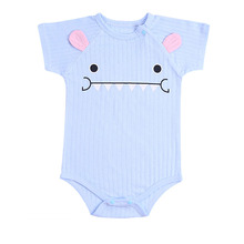 Newborn Baby Rompers Unisex Infant Clothes Cotton Short Slee
