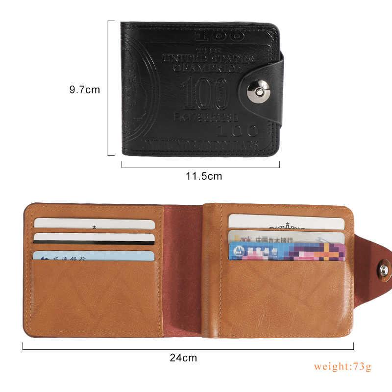 UOSC Luxus 100% Echtem Leder Brieftasche Mode Kurze Bifold Männer Brieftasche Casual Soild Brieftasche Mit Münzfach Geldbörsen Männlichen Brieftaschen