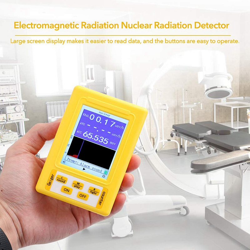 Geiger Handheld Full 2 Electronetic 9C In Radiation Portable Nuclear Detector Counter Radiation Function Digital Display 1 BR