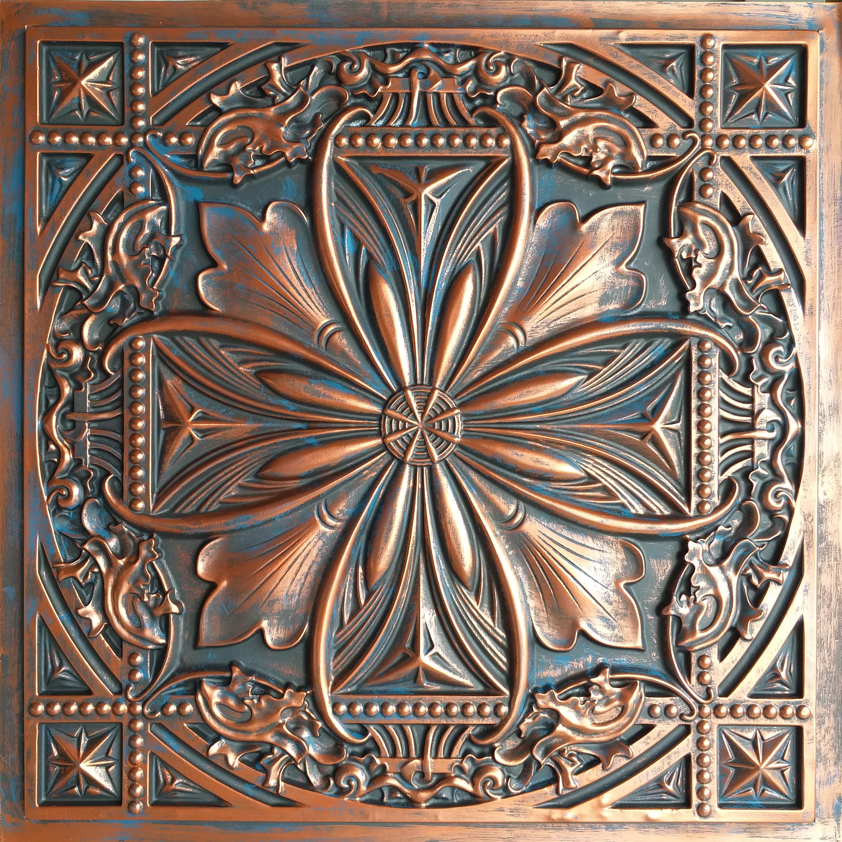 Tin Ceiling Tile Rustic Copper Color