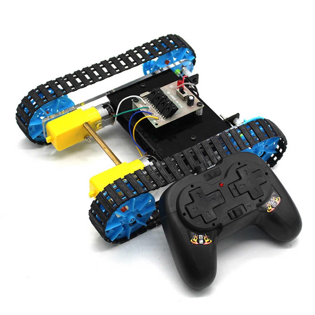 لتقوم بها بنفسك تجميع دبابة مع جهاز للتحكم عن بُعد خزان تحكم عن بعد نموذج العلوم لعبة تعليمية ألعاب التحكم عن بعد