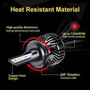 Image 4 - Ampoules pour phares de voiture, LED, 2 pièces ZES puces LED H4 Canbus H1 H3 H7 H8 H11 HB3 9005 HB4 9006 H27 880 881, lampe frontale automatique 12V 5000K