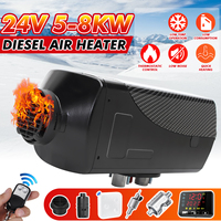 8KW 24V Local gold  Air Diesels Heater Parking Heater With Remote Control LCD Monitor Car Heater Silencer For free|Heating & Fans| |  -