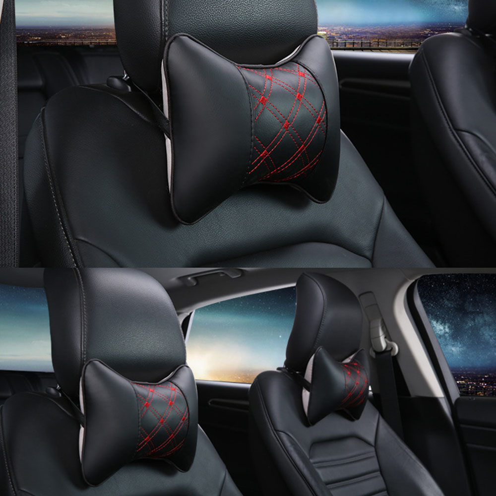2P car headrest auto safety neck pillow For BMW e46 e90 e60 e39 e36 f30 f10 f20 e30 x5 e53 e70 e87 e92 e34 e91 X3 X1 X6 M3 M5 image