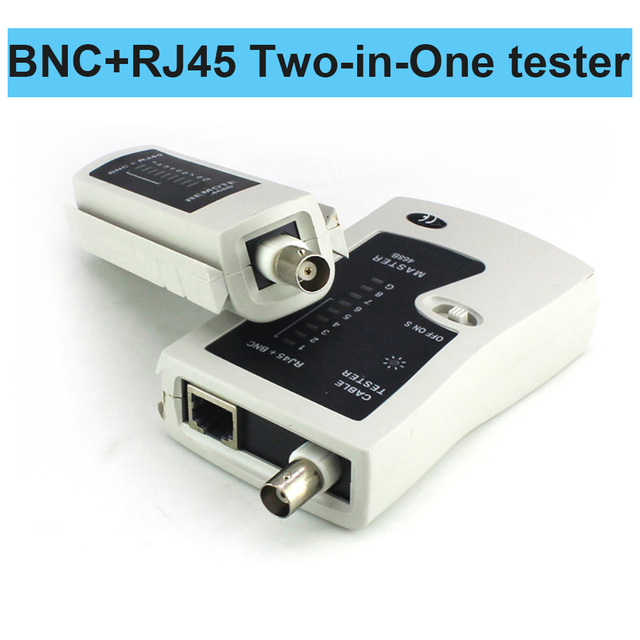 OULLX BNC Coaxial RJ45 Cable Lan Tester Network Tester  Cat5 Cat 6 Cat7 UTP Networking Tool network Repair 4