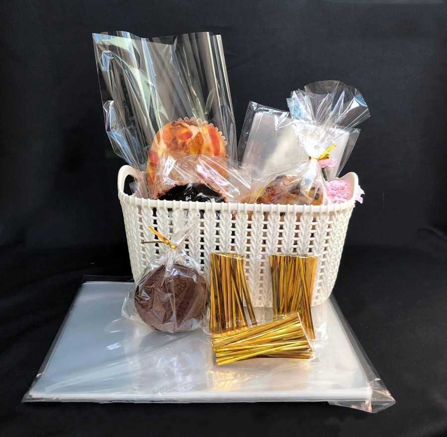 Stobag 100 Pcs Clear Plastic Zak Platte Open Top Voor Candy Cookie Brood Voedsel Opp Cake Gift Verpakking Tassen Wedding party Diy Cello